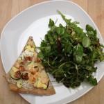 Flatbread mit Ziegenfrischkäse - Zucchini - Birnen - Walnuss